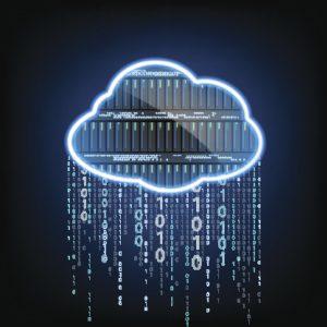 Cloud computing. Server for data storage.
